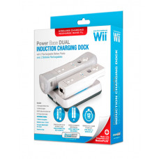 WII DUAL POWER BASE WIRELESS WHITE