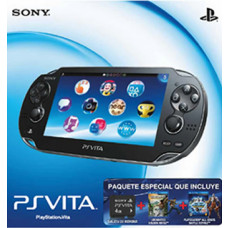 CONSOLA PSVITA NEGRO UNCHARTED GOLDEN ABYSS PLAYSTATION ALL STAR BATTLE ROYALE
